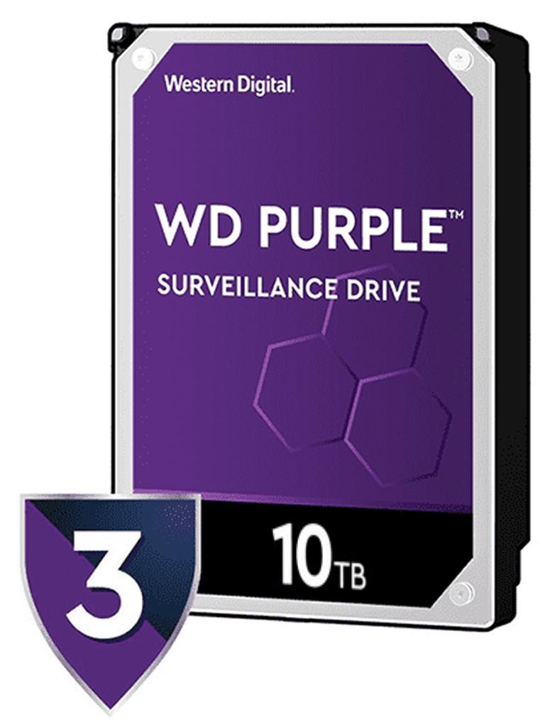 WESTERN WD102PURZ - Disco duro 10 TB / Serie Purple / 7200 RPM / 256MB / Sata 6 GBS / Recomendado para videovigilancia / Tamano de 3.5 / Hasta 16 bahias