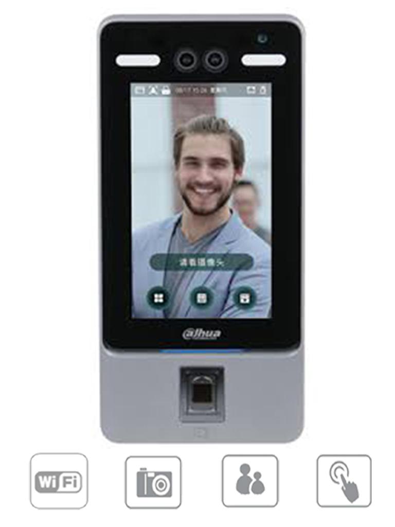 DAHUA ASI7214YV3 - Control de Acceso con Reconocimiento Facial y huella/ WiFi/ P2P/ 10,000 Huellas/ 50,000 Rostros/ 50,000 Tarjetas MIFARE #AccesoProfesional #Proyectos