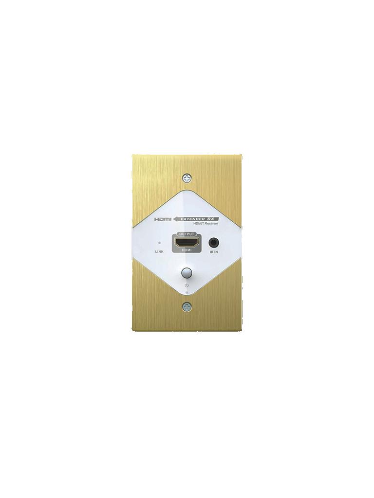 SAXXON LKV372W - Extensor  HDMI placa de pared / Incluye transmisor y receptor /  1080p / 40 Metros / CAT 6 / Soporte de transmision de ir / 110  VAC / PLUG & PLAY