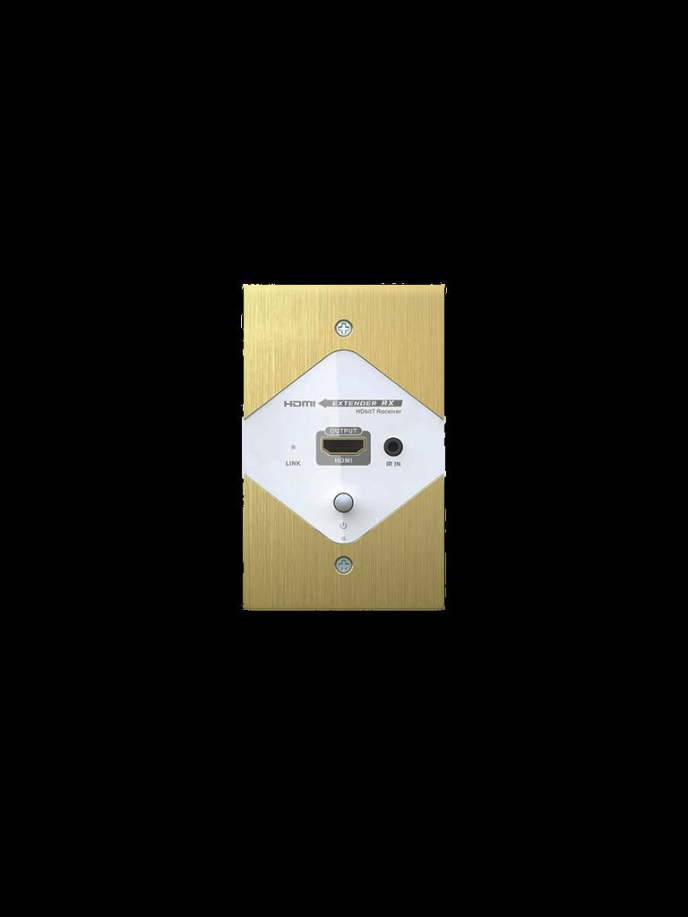 SAXXON LKV372W- EXTENSOR HDMI PLACA DE PARED/ INCLUYE TRANSMISOR Y RECEPTOR/ 1080P/ 40 METROS/ CAT 6/ SOPORTE DE TRANSMISION DE IR/ 110 VAC/ PLUG & PL