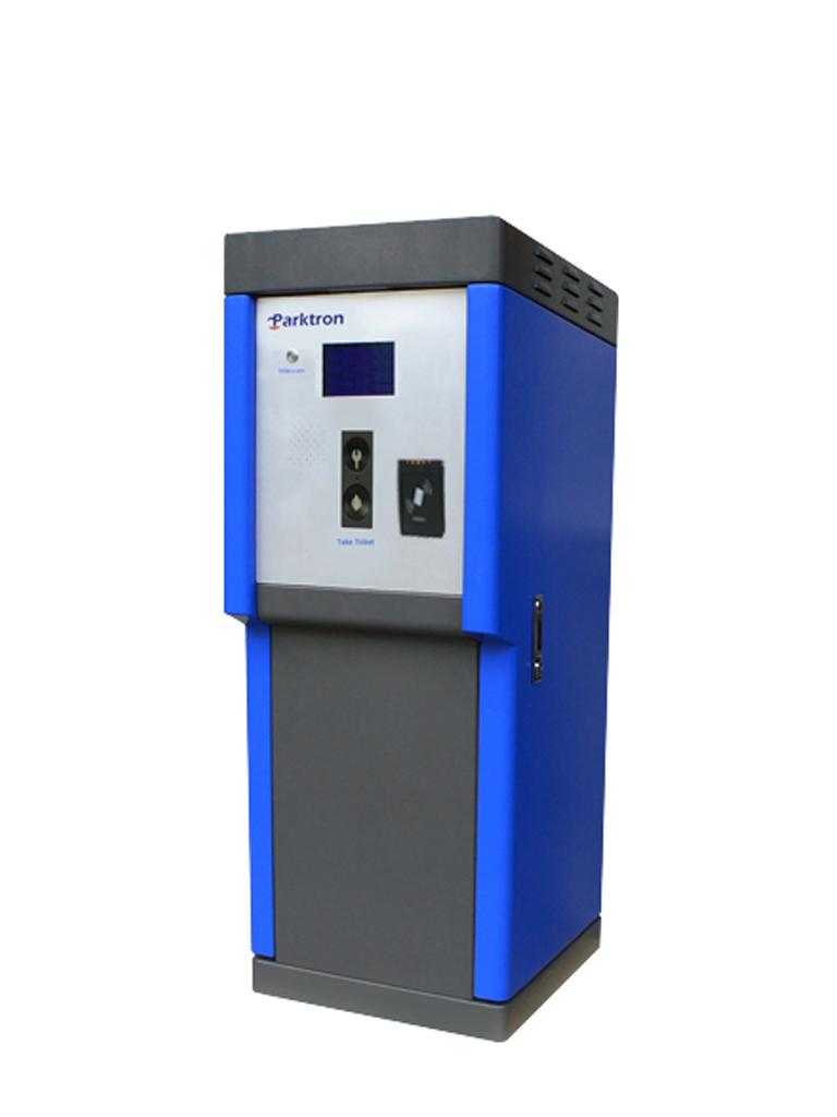 PARKTRON CEXT2097 - Terminal de salida, colectora de chipcoins para sistema de cobro de estacionamientos/ Pantalla de 7 pulgadas/ Lectora de pensionados