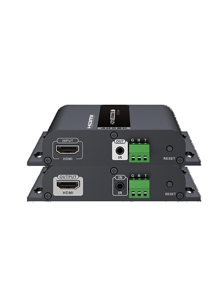 SAXXON LKV683S - Extensor  HDMI sobre IP / 4K / 120 Metros /  RS232 / H dBIT / CAT 5E Y 6 / 30 HZ / Soporte de transmision de ir / Compatible con  HDCP 1.4