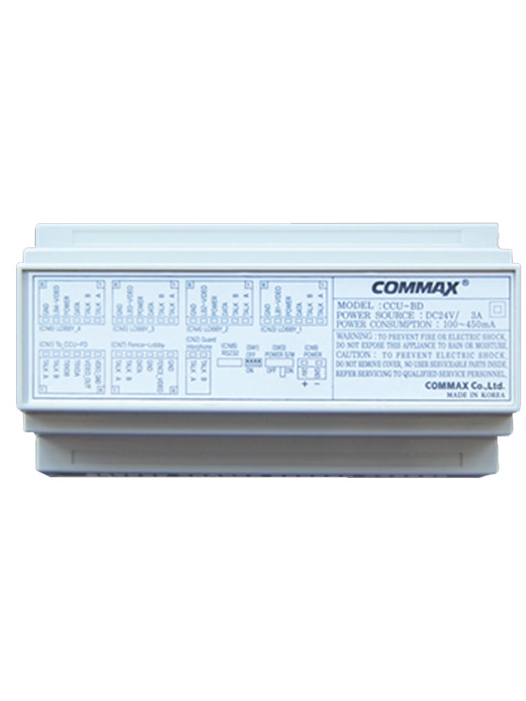 COMMAX CCU204AGF- DISTRIBUIDOR PARA PANEL DE AUDIO/ 4 INTERCOMUNICADORES/ CONEXION POR 2 HILOS/ AUDIO GATE