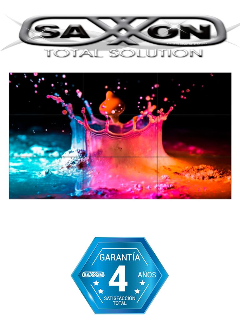 SAXXON AN5535B1 - Pantalla  LED de 55 pulgadas para video wall /  1080p / Marco ultra delgado 3.5 mm / Brillo 500 CD / M2 / PIP / 1  HDMI / 1 DVI / 1 VGA / 1 B NC