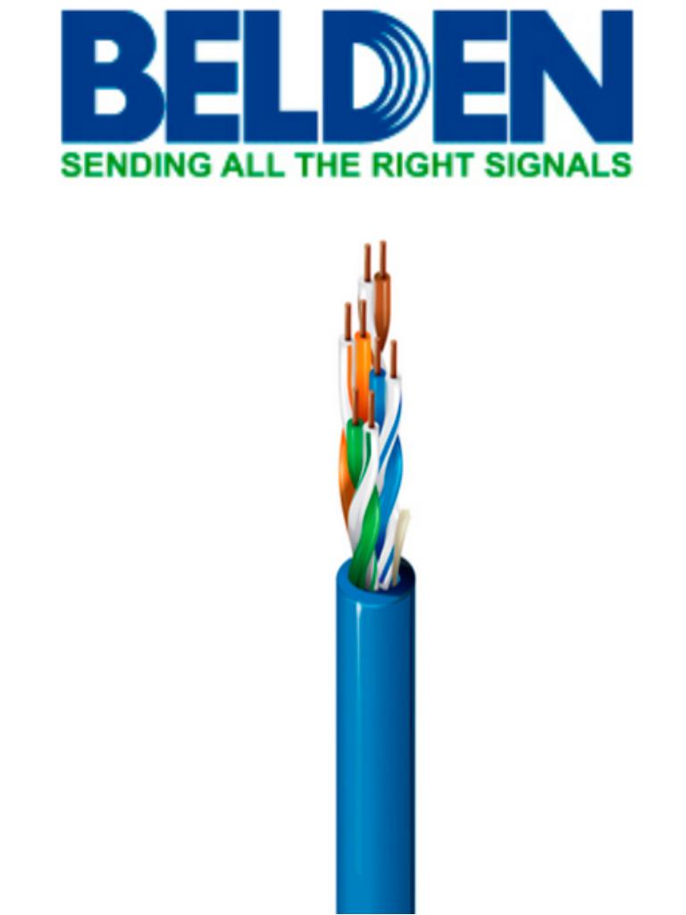BELDEN 1583A006U1000 - Cable UTP / 4 Pares / Categoria 5E / 24  AWG / 305 Metros / 100% Cobre / Color azul/