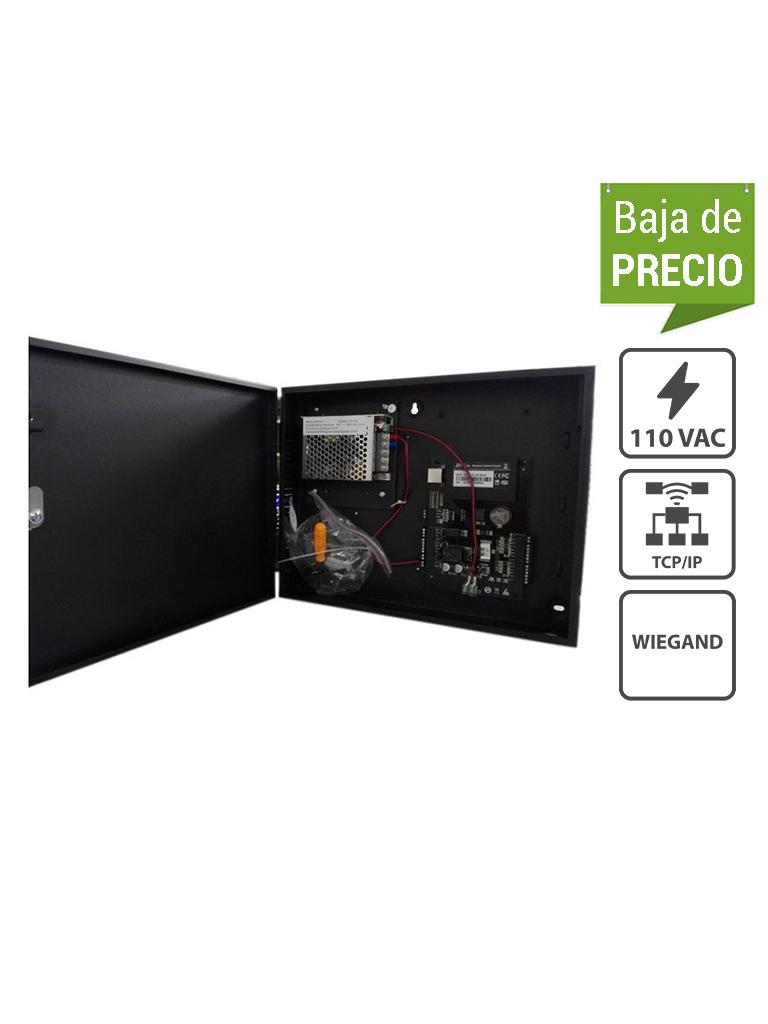 ZKTECO C3100B - Control de Acceso Profesional / para 1 Puerta / 2 Lectoras de Tarjeta / PULL / Gabinete y Fuente / Sin Biometría / Fácil Administración con Software ZKAccess 3.5 / #Pascua
