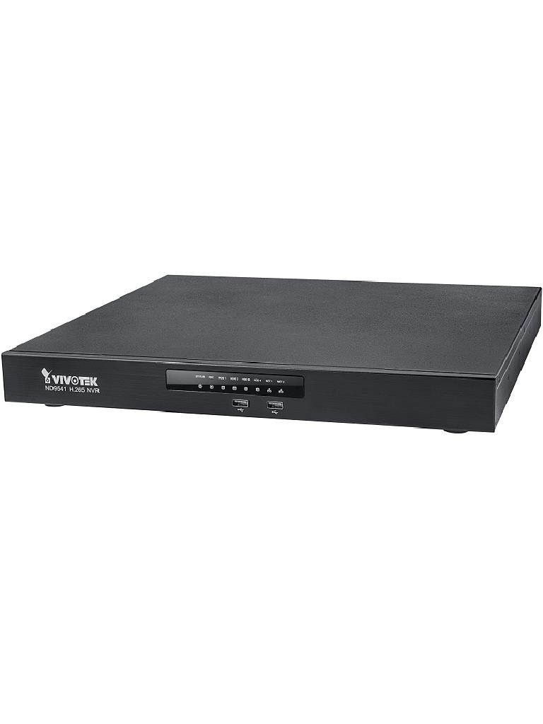 VIVOTEK ND9541 - NVR 32 Canales / Hasta 4  HDD / Auto SETUP / Salida  HDMI / EZ CONNECT / H265 / ONVIF / Dual LAN