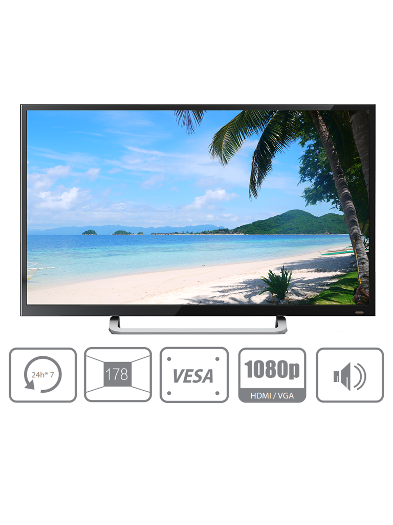 DAHUA DHL32F600 - PANTALLA DE 32 PULGADAS PROFESIONAL PARA CCTV/ FHD/ PANEL GRADO INDUSTRIAL/ 24/7 / BRILLO 350 NITS/ 8 MS/ VGA / HDMI / DP/ ALTAVOCES