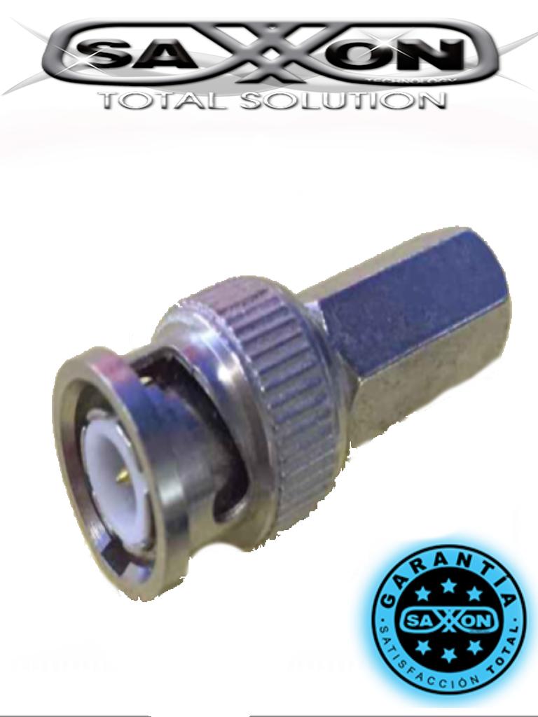 SAXXON PSUBR10RG59 - Bolsa de 10 conectores B NC macho de enroscar para cable siames