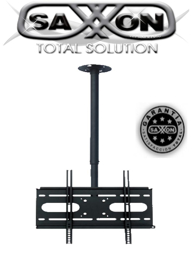 SAXXON SXVMCP04SR - Soporte para monitor de techo / 1 Monitor 23 - 55 PLG / Ajustable altura e inclinacion / Acero / VESA Hasta 400X400 / Carga 56  Kg