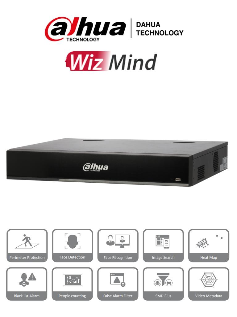 DAHUA NVR5432-16P-I  - NVR de 32 canales IP/ WizMind/ H.265+/ 320 Mbps de Rendimiento/ 4 Bahias de Disco Duro/ 16 Puertos Poe/ 4 Canales de Reconocimiento Facial/ 16 Canales de Protección Perimetral/ #Proyectos