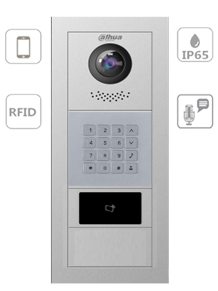 DAHUA VTO4202FX SERIES-Videoportero modular departamental P2P/ Cámara 2MP / Lectura de tarjetas MIFARE / Hasta 100 casas / Notificación de llamada y apertura remota desde APP #TocToc