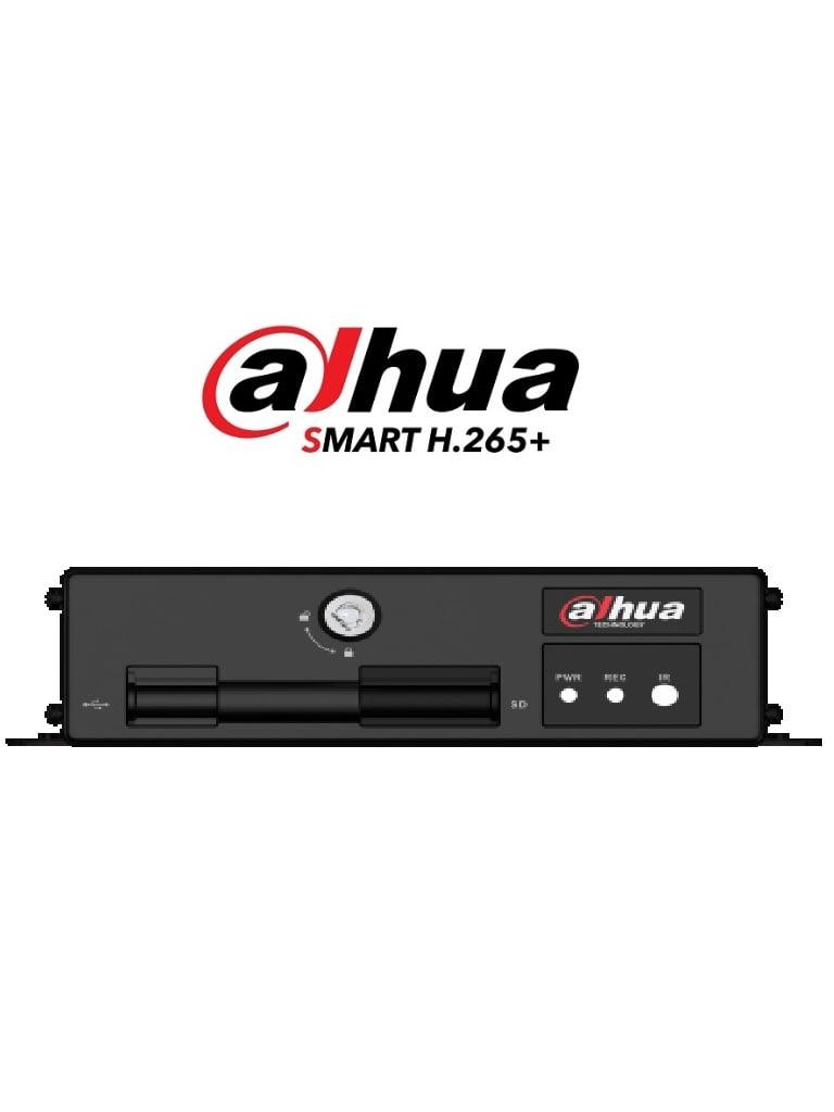 DAHUA MXVR1004GC - DVR Movil 4 canales  1080p / 1 Canal IP adicional / H.265 / 3G / GPS / 2 Ranuras para SD