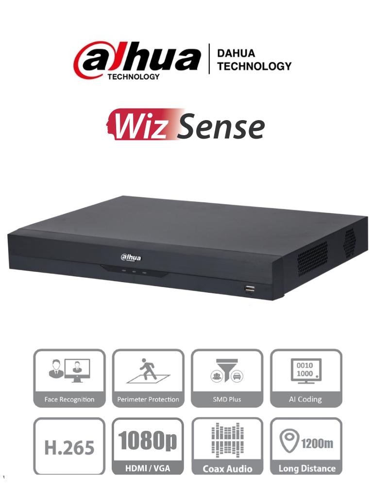 DAHUA XVR5216AN-4KL-I2 - DVR de 16 Canales 4k/ WizSense/ H.265+/ 16 Canales HDCVI+16 IP/ Hasta 32 Ch IP/ 2 Ch de Reconocimiento Facial/ SDM Plus/ Protección Perimetral/ 2 SATA de hasta 10TB/ Soporta HDCVI/AHD/TVI/CVBS/ IoT/ POS