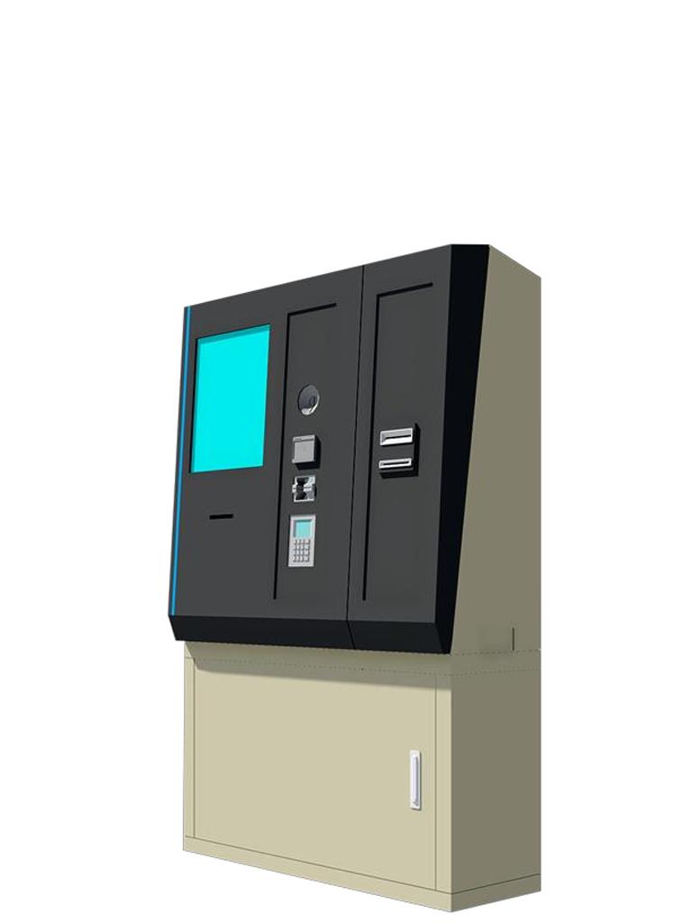 PARKTRON  BAPS219C - Terminal de autopago para sistemas de cobro con tickets de codigos QR acepta billetes y monedas/ Sobrepedido