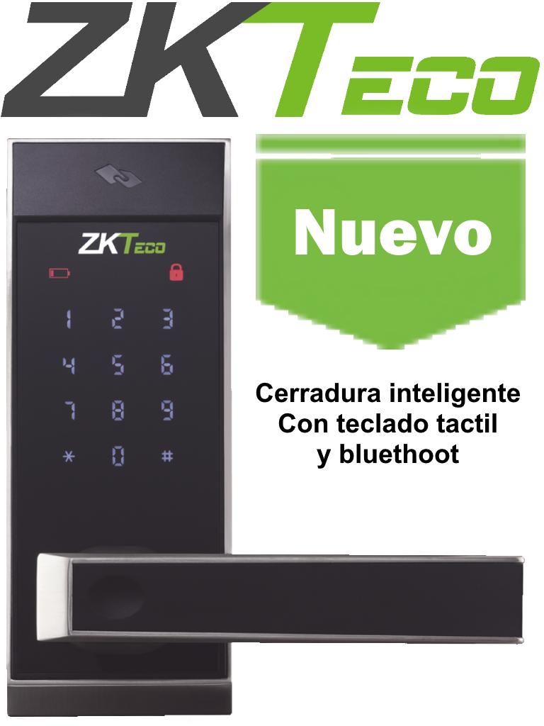 ZKTECO AL10DB - Cerradura inteligente con teclado táctil / 100 tarjetas  MF 13.56  Mhz/ 100 contraseñas  / Izquierda y derecha/ APP Smartkey Genera contraseñas temporales para tus departamentos / #NuevoZK