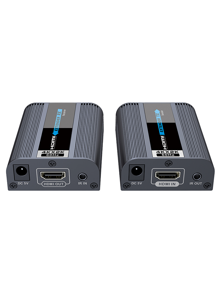 SAXXON LKV672 - Extensor de video  HDMI sobre UTP / Resolucion 4K x 2K / Hasta 60 metros / CAT 6 / 6A / 7 /  HDCP 2.2 / Señal ir
