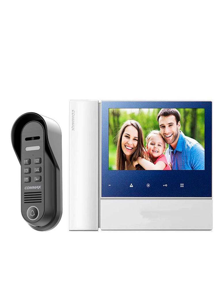 COMMAX PAQCDV70N2 - Paquete de monitor de 7 pulgadas con auricular y frente de calle con apertura de puerta con PASSWORD