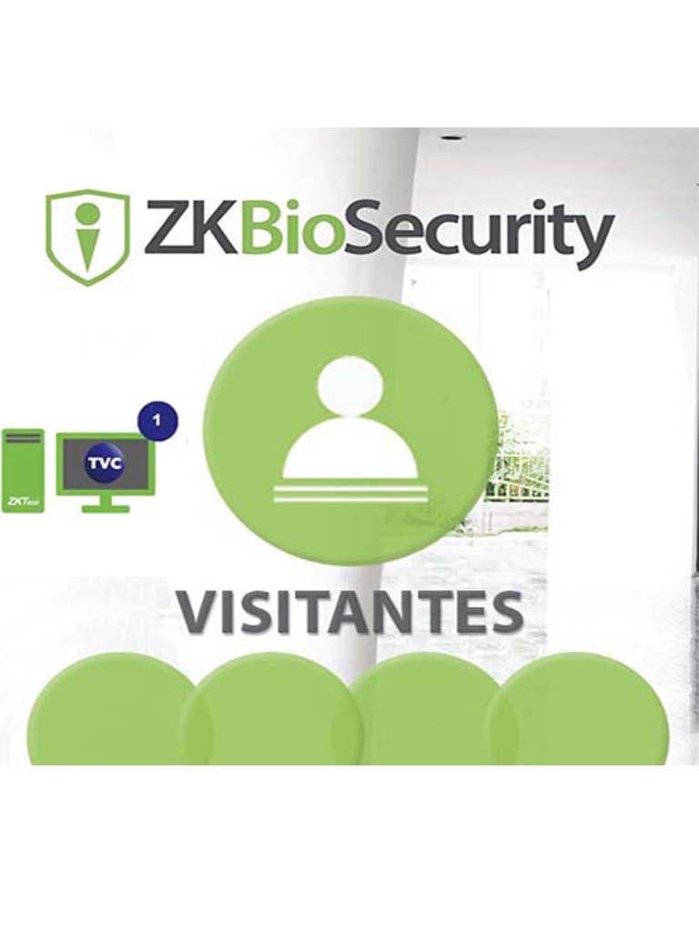 ZK ZKBSVISP13Y - MODULO DE VISITAS PARA BIOSECURITY / 5 MIL VISITAS POR MES / 1 SITIO DE REGISTRO / 3 AÑOS
