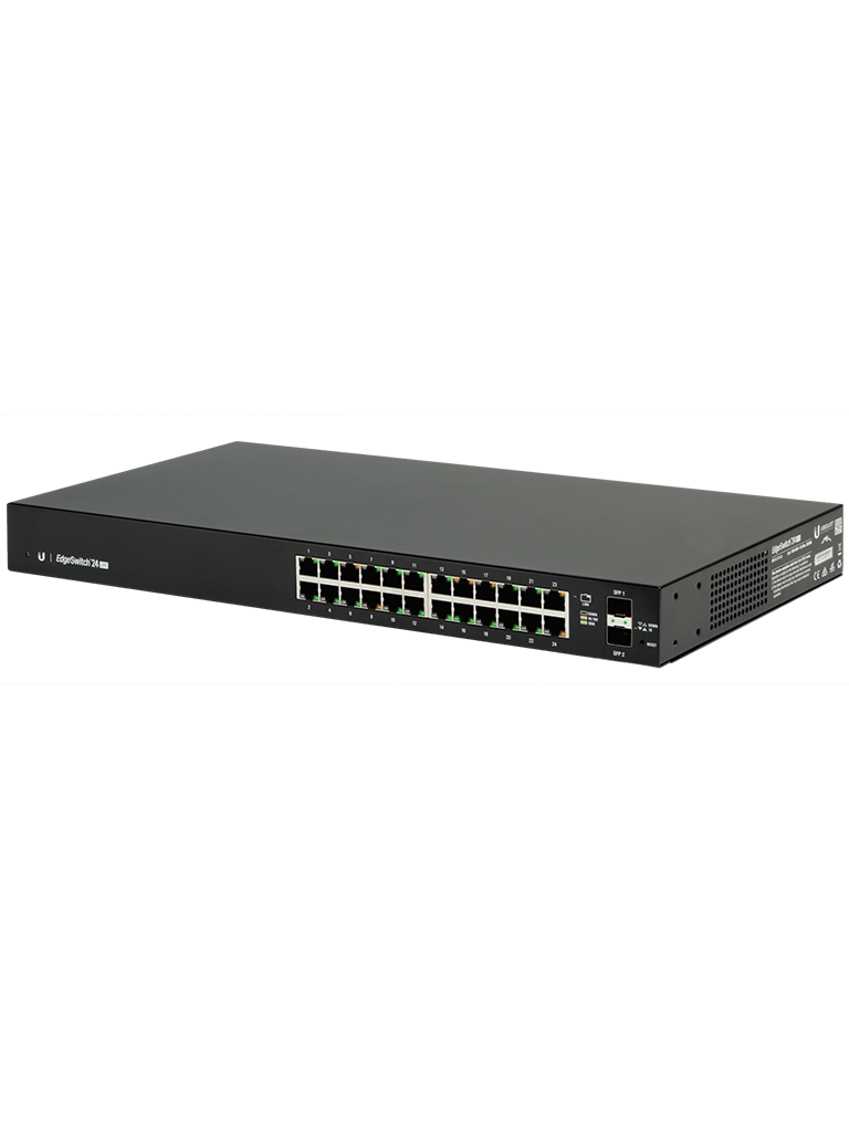 UBIQUITI ES24LITE - Edge Switch Gigabit / 24 Puertos Gigabit Ethernet / Administrable Capa 2 / 2 Puertos SFP / Switching 52 Gbps
