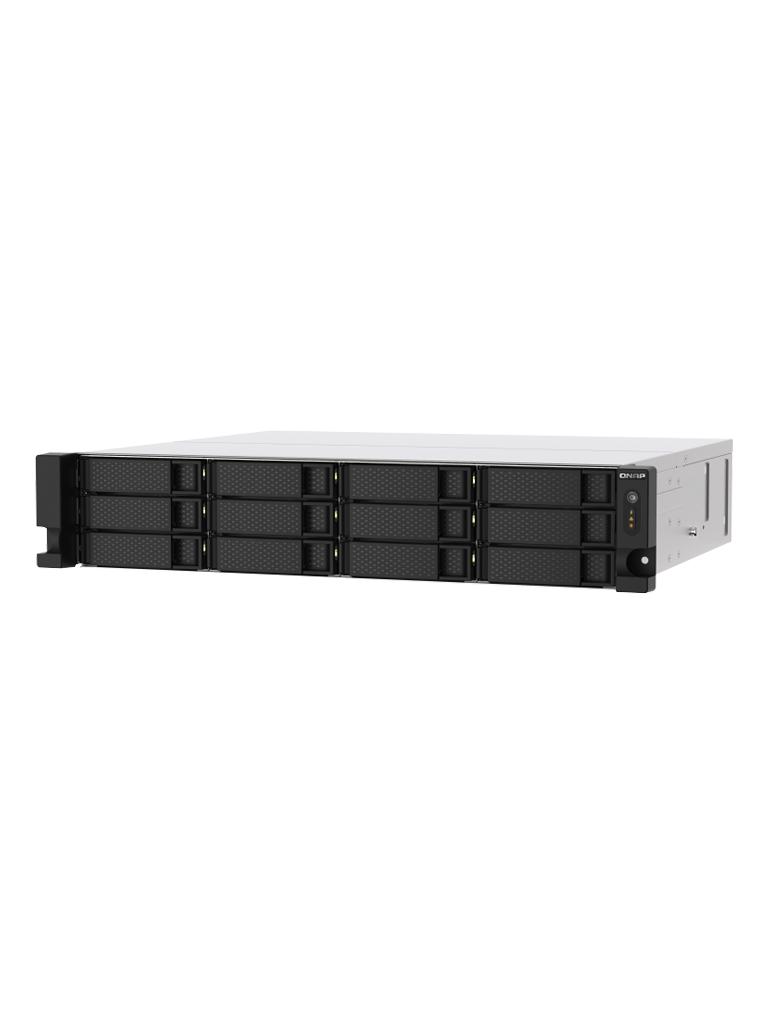 QNAP  TS-1273AU-RP-8G - NAS 12 BAHIAS/ 2U RACK/ AMD Ryzen V1500B Quad-core 2.2GHz/ 2 x 2.5GbE LAN8 GB RAM/
