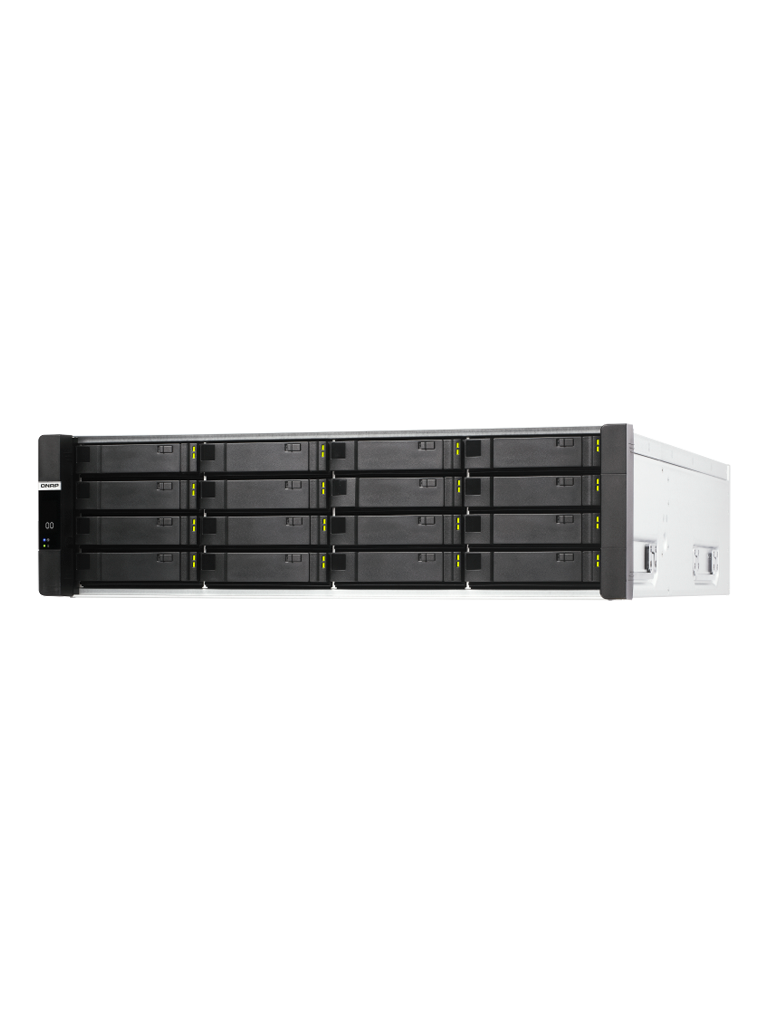 QNAP ES1686DC2142IT96G - SISTEMA DE ALMACENAMIENTO EN RED NAS/ 16 BAHIAS/ 3U/ INTEL XEON D-2142IT/ 1.9GHZ/ 8-CORE/ 48 GB RAM POR CONTROLADOR/ ZFS NAS ISCSI/ SAS 12G/ 3 x RJ45 GIGA/ 4 x 10GBE (SFP+)/ INCLUYE RAIL-E02