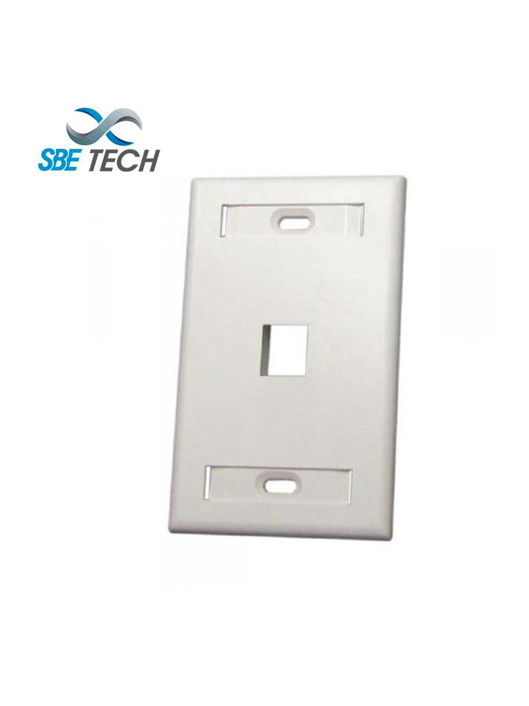 SBETECH SBE-2517-1P-WT - Placa de pared de 1 puerto color blanco
