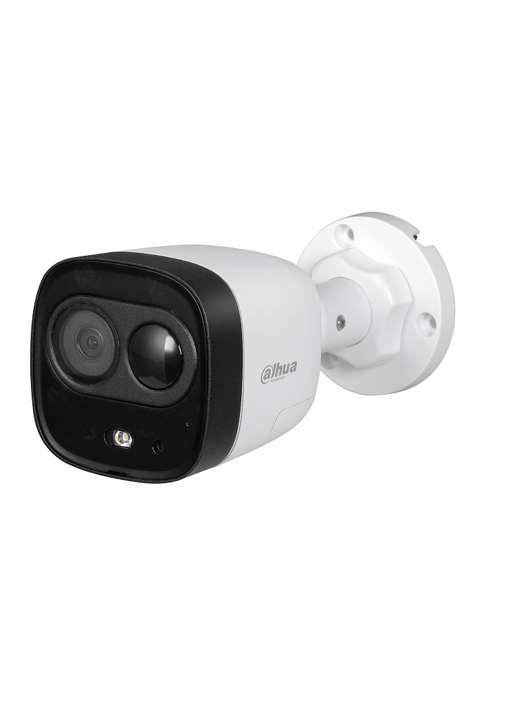 DAHUA ME1200D - Camara bullet de disuasion activa / 2 Megapixeles / Lente 2.8 mm / Ir 20  Mts / PIR 15  Mts / SIRENA&LUZ Blanca / Audio integrado