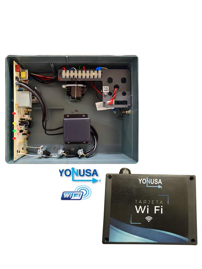YONUSA EYNG12001WIFI - Paquete de ENERGIZADOR de nueva generacion 12 000V / Modulo  WiFi para control desde SMARTPHONE / Hasta 2 500  Mts lineales