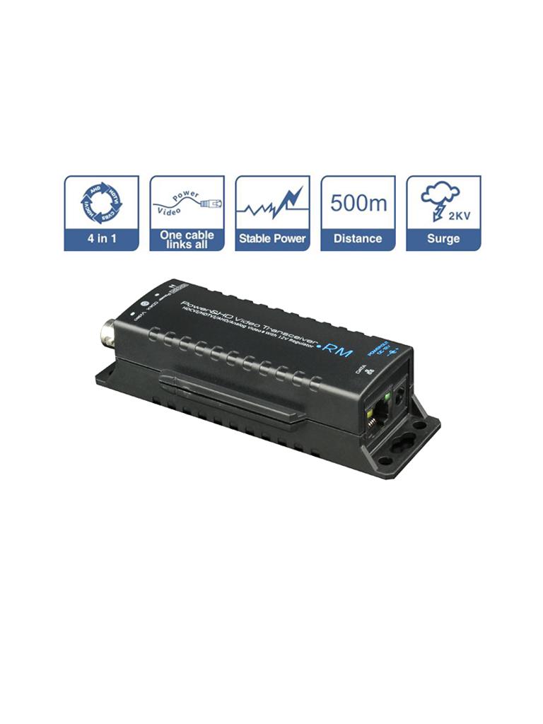 SAXXON UTP101PVHD5RM - Transmisor de video y receptor de energia /  HDCVI / TVI / A HD / CVBS / Corriente 0.8 a / Distancia maxima 500 m