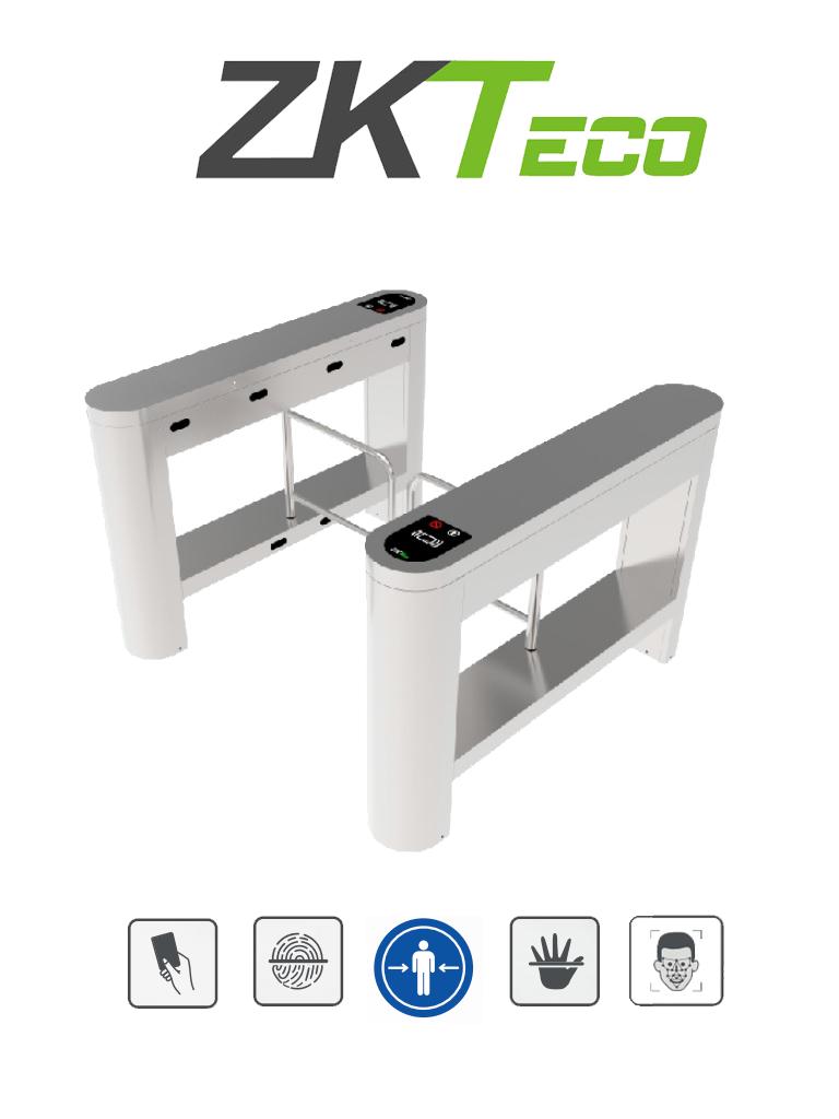ZKTECO PROENTRANCE SB01FP - Swing Barrier de Acero Inoxidable/ 30 personas por minuto /RFID + FP /Viene con 2 lectores de Huella FR1500 y un panel inBio206 Pro / Un Carril
