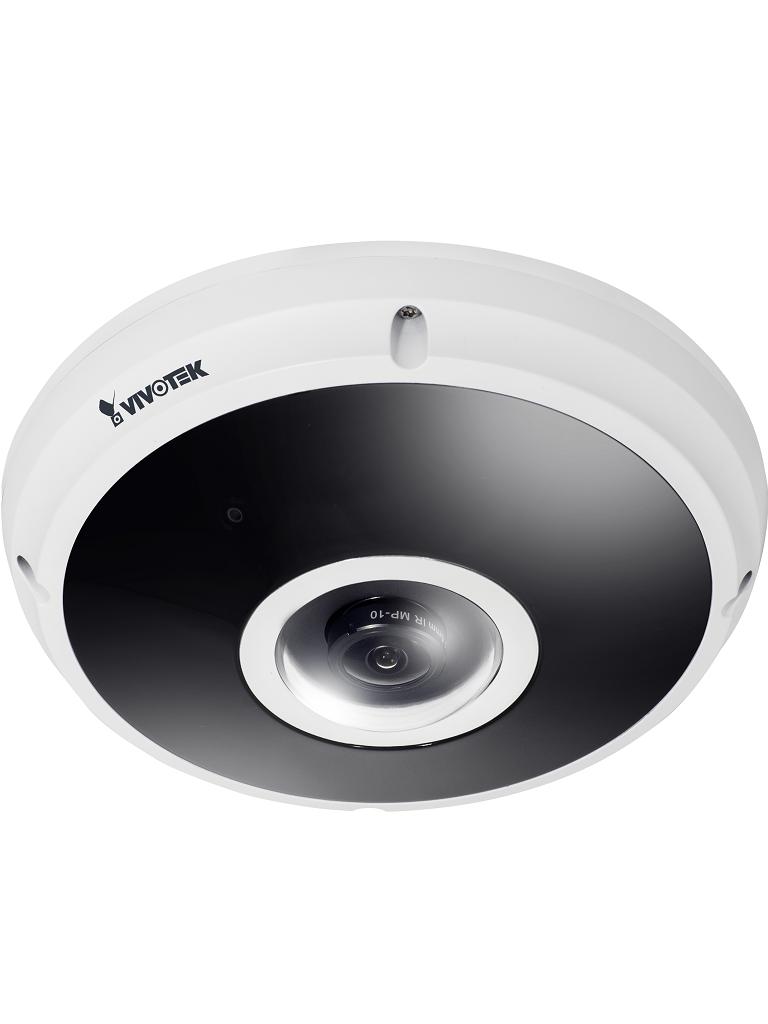 VIVOTEK FE9382EHV - Camara IP FISHEYE exterior 5  MP /Vision Panoramica 360º / Vision nocturna 20M / WDR Pro / Ranura MICROSD / H265 / Audio /  PoE / Antivandalica
