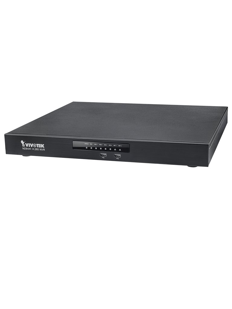 VIVOTEK ND9441 - NVR 16 CANALES/ 4 BAHIAS/ SALIDA HDMI Y VGA/ LAN DUAL/ H264 Y H265/ONVIF/EZ CONNECT