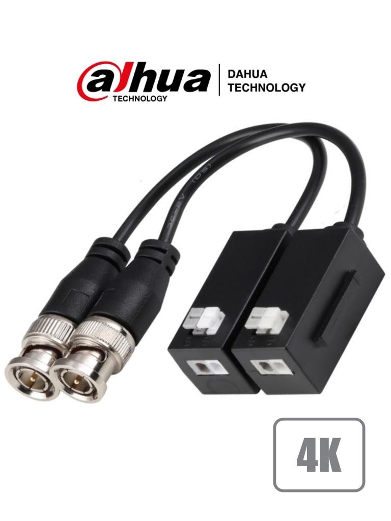 DAHUA PFM8004K - Par de Transceptores Pasivos 4K (8 Megapixeles) / 6 MP/ 4 MP/ HDCVI/TVI/AHD/CVBS/ Distancia HDCVI: 4M/6M/4K: max.200m, 1080P: max.250m, 720P: max.400m