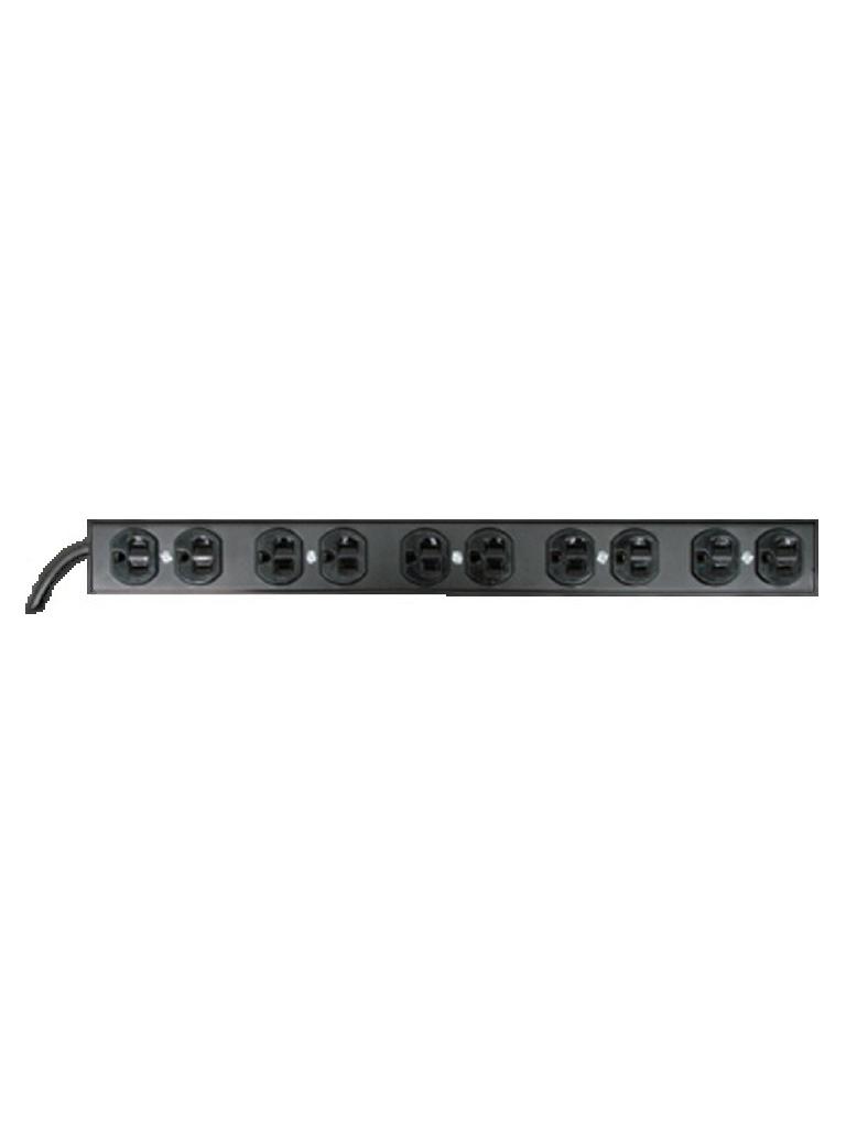 LACES LABC12P - Barra de contactos / Horizontal / 12 Contactos / Aterrizada / Supresor de picos de voltaje / 1 UR