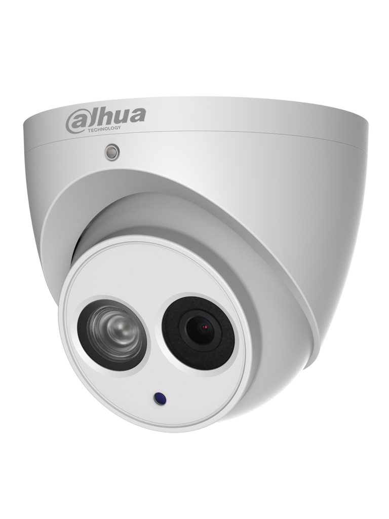 DAHUA IPCHDW4431EMASE - Camara IP domo 4 megapixeles / Audio integrado / Lente de 2.8  mm / WDR Real / H.265+ / Ir 50  Mts / IP67 / 50 / 60FPS