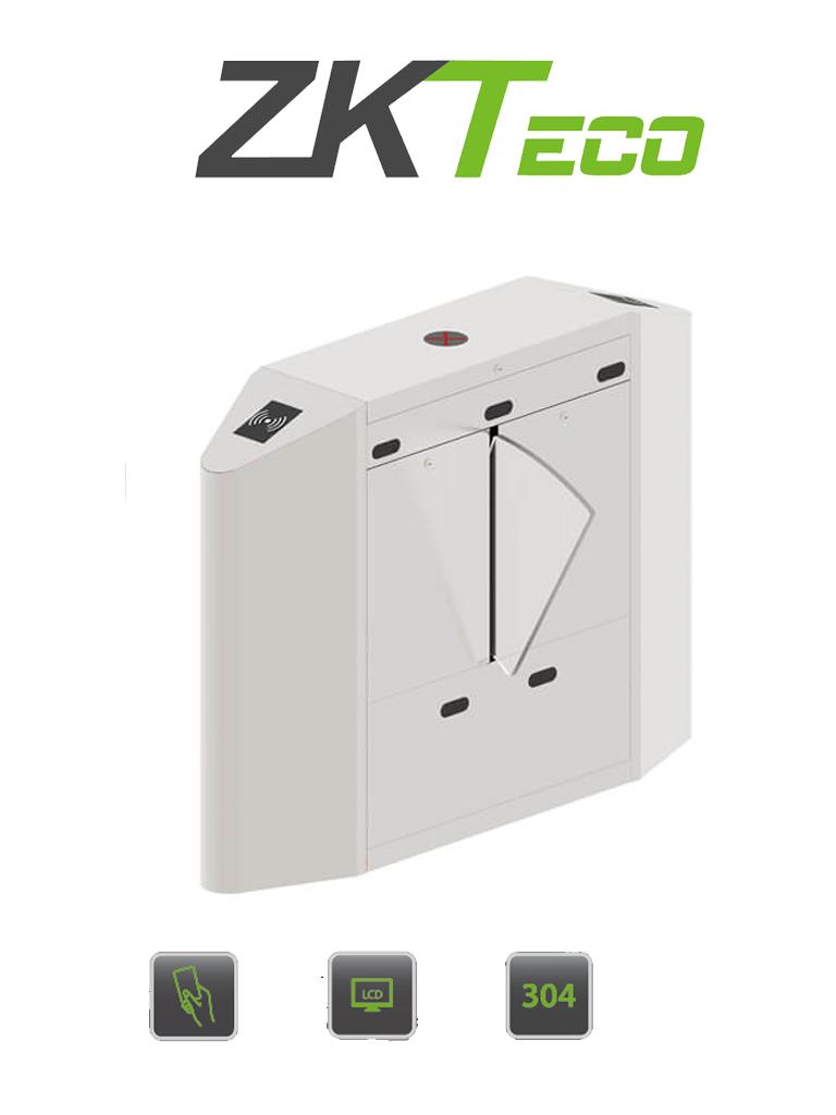 ZKTECO FBL4200PRO - Barrera Peatonal Central Tipo Flap / 25 a 30 Personas x Min / Acero SUS304 / Aletas de Acrílico / Indicador LED / 110V / Carril 60 cm / Exterior Protegido / 2 millones de Ciclos / Infrarrojos / No cuenta con Lectores y Panel