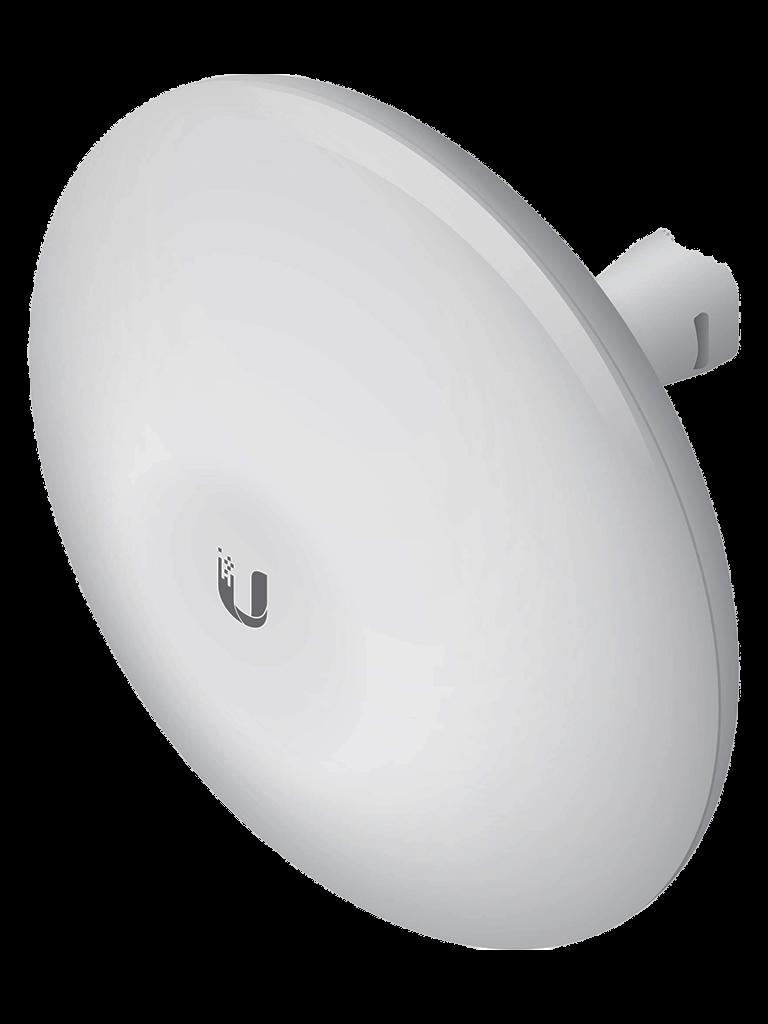 UBIQUITI NANOBEAM NBEM519 - Radio con antena integrada AIRMAX 5.8GHZ / Exterior / Mimo / Antena 19 dBI / 26 dBM / Rendimiento hasta 150 Mbps