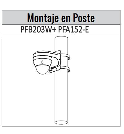 IPCD2B40ZS  montaje poste