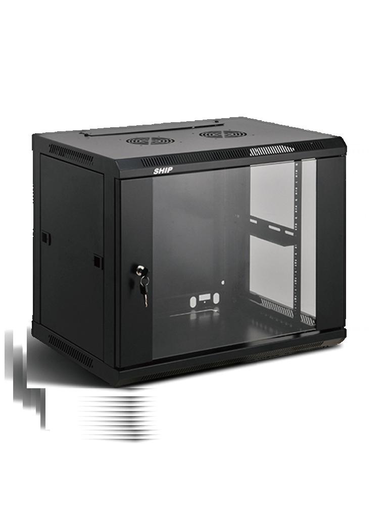 SAXXON SA660901 - Gabinete de pared / 9 UR / Fijo / Capacidad de carga de 60  Kg / Ancho 600 mm x profundidad 600 mm x alto 500 mm