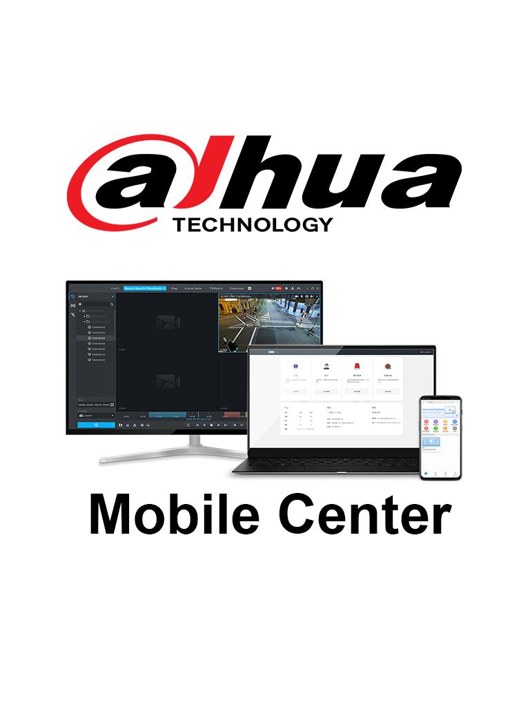 DAHUA MobileCenterBase - Licencia Base de Mobile Center para 16 Canales de video/ Solución Móvil Dahua/ 100 Usuarios en Línea/ Windows 10/ SOBRE PEDIDO