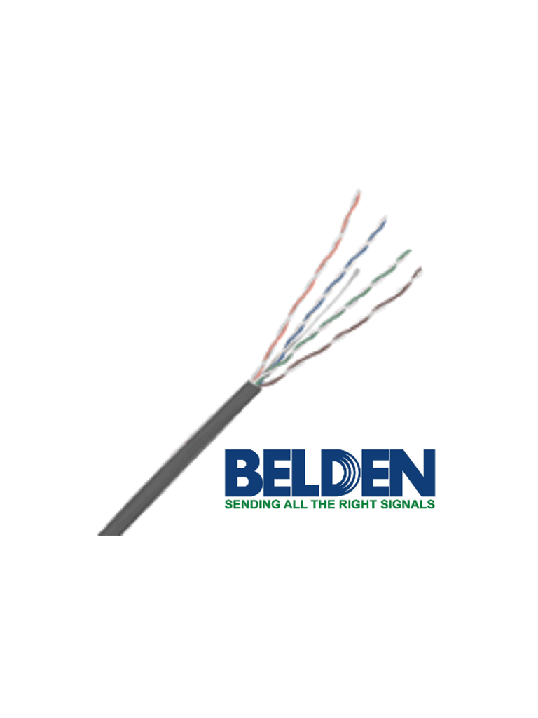 BELDEN 24120081000 - Cable UTP 100% cobre / Categoria 6 / IBDN / GIGAFLEX 2412 CMR / Color gris / Bobina de 305  Mts