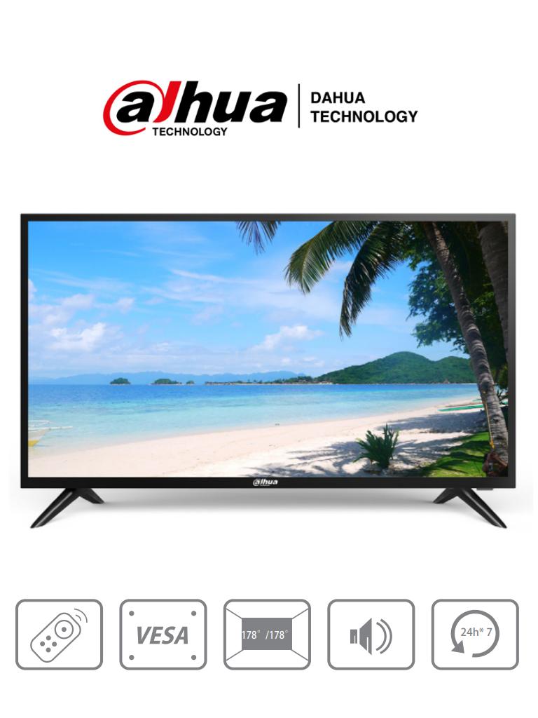 DAHUA DHI-LM32-F200 - Pantalla de 32 pulgadas FHD/  Ideal para trabajar 24/7/ Resolución 1920×1080/ 240 cd/2/  Entradas HDMI VGA y USB/ Altavoces/ Control Remoto/