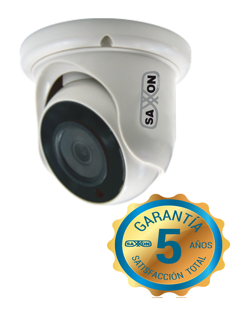 SAXXON TECH ES31A11J - Camara domo  HDCVI  720p / A HD / TVI / Lente 2.8 mm / Luz ir 20M / DWDR / Interior / Policarbonato/ #hotsale