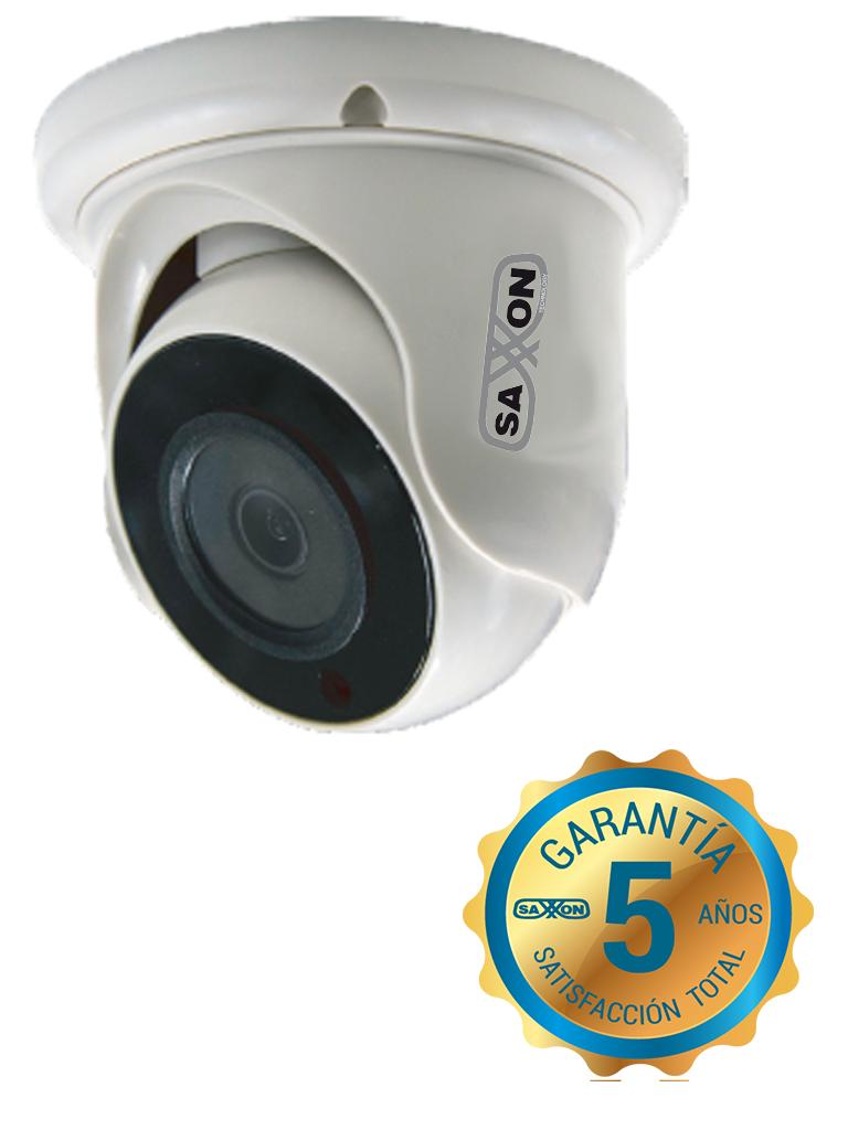 SAXXON TECH ES32B11J- CAMARA DOMO HDCVI 1080P/ AHD/ TVI/ CVBS/ LENTE 2.8MM/ ANGULO DE VISION 92 GRADOS/ LUZ IR 20M/ DWDR/ INTERIOR/ POLICARBONATO