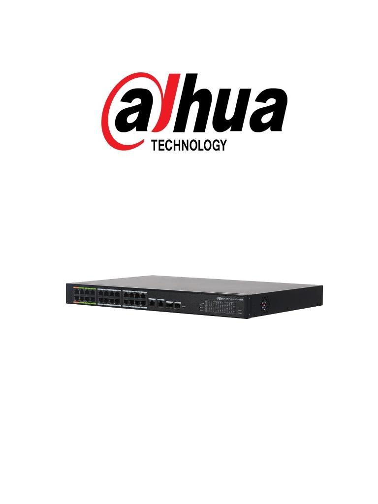 DAHUA LR222624ET360 - Switch E PoE 24 puertos / 8 Puertos E PoE hasta 800  Mts con camaras E PoE / 360  Watts / SWTICHING 8.8G /  802.3af /  802.3at / HI-PoE