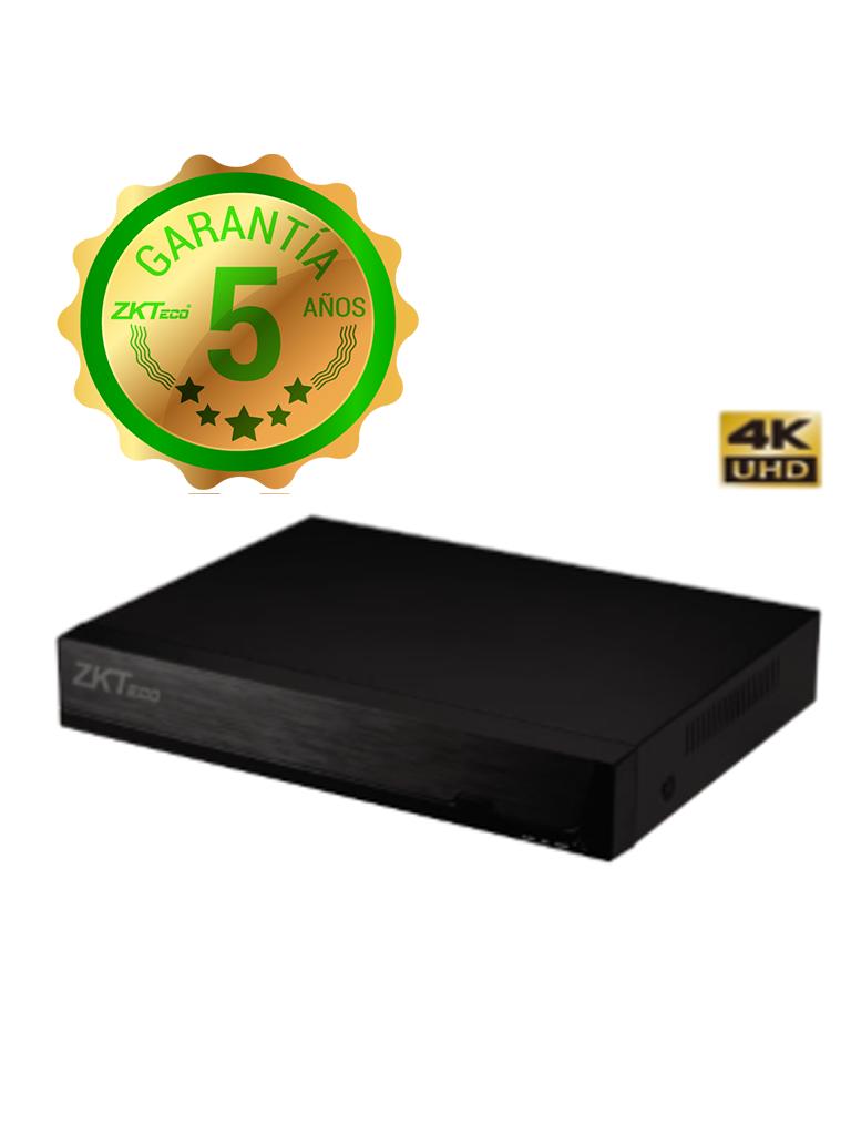ZKTECO Z8516NFR16P - NVR 16 Canales IP / H265 / 16 Puertos  PoE / Resolución 4K /  HDMI 4K / VGA / 2 Puertos SATA hasta 8TB cada  HDD / P2P