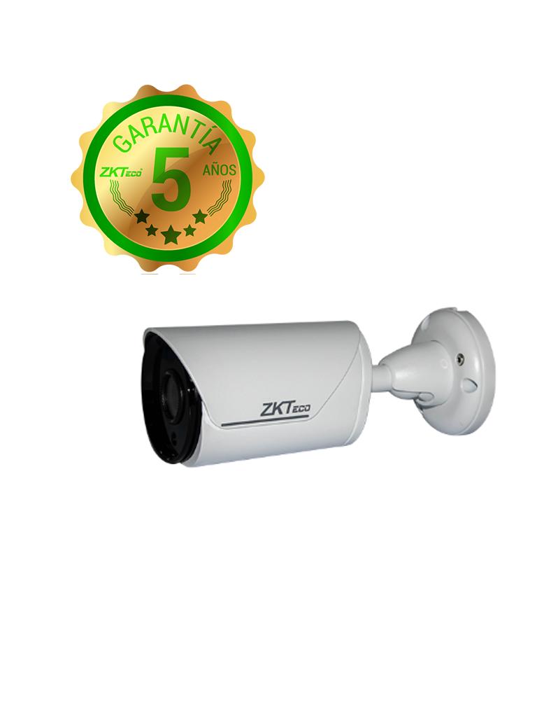 ZK BS852K12K- CAMARA IP BULLET 2MP/ H265/ LENTE 3.6MM/ LUZ IR 20 M/ EXTERIOR IP67/ POE/ DWDR/ METALICA/ ONVIF