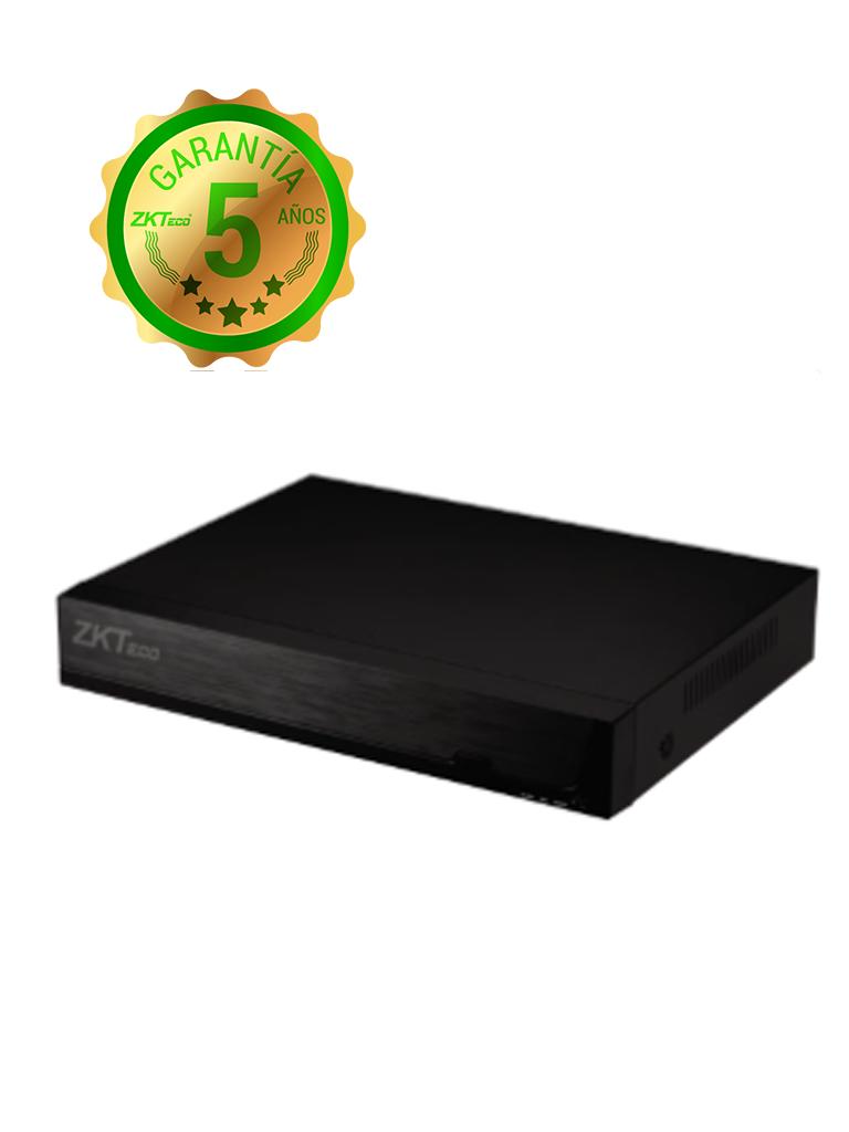 ZKTECO Z8504NER4P - NVR 4 Canales IP / H265 / 4 Puertos  PoE / Resolución hasta 5 MP /  HDMI / VGA / 1 Puerto SATA hasta 8TB / P2P
