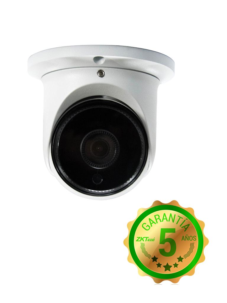 ZKTECO ES852K11H - Cámara IP Domo 2 MP/ H265/ Lente 2.8 mm/ Ángulo de Visión 99 grados/ Luz IR 20M/ IP67/ PoE/ DWDR/ Roi/ 3D DNR/ Metálica / ONVIF